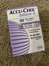 2 Roche Accu-Chek Inform II Test Strips 50/Box Exp: 09/2021