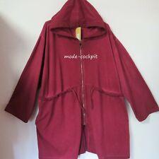 LA BASS Sweaty Jacke Parka Mantel Kapuze Vintage Baumwolle bordeaux 52-56 (2)