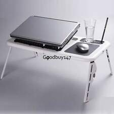 Foldable Portable laptop Desk Table Notebook Stand Reading Bed Tray Dual Fans
