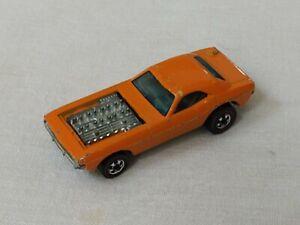 SHOW OFF Original Hot Wheels Orange Enamel 1973 redline Challenger - NICE!