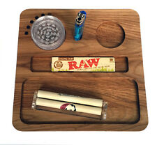 Rolling Tray. Solid Oak Deluxe Tray For All Your Smoking Paraphernalia.