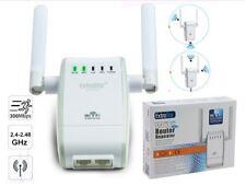 Ripetitore Wifi Amplificatore segnale router wireless range rete LAN antenna
