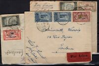 PP125826 / FRENCH MOROCCO / 3 CIRCULATED LETTERS CV 140 $