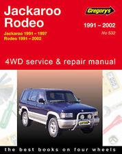 Holden Jackaroo Petrol 1991-1997 Workshop Repair Manual with MPN GAP05532