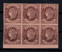 G128612 / SPAIN CLASSICS / EDIFIL # 58 BLOCK OF 6 MNH ** CV 140 $
