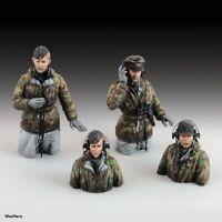 Unpainted 1/35 WW2 German Soldiers Tank Crew Resin Figure Model Kit Unassembled