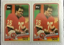 1988 Topps 2 card lot  SUPER ROOKIE  Christian Okoye  #363  Chiefs