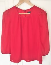 French Connection Beautiful Red Top - 2 layer / Sheer Top - UK 8 - Please Read