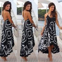 Womens Maxi Boho Floral Summer Beach Long Skirt Evening Cocktail Party Dress