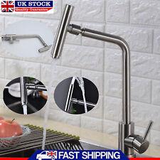 Kitchen Tap Sink Mixer Single Lever Spout Chrome Bathroom Bath Filler Faucet UK