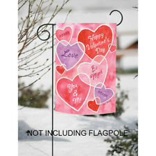 US Red Heart Romantic Love You Me Garden Flag Happy Valentine's Day Banner Decor