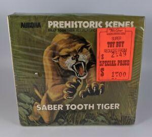 Aurora Prehistoric Scenes Saber Tooth Tiger Model 733 1972 SEALED Big Box