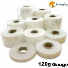 More details for layflat polythene poly tubing tube *all sizes & qtys* clear- 120 gauge 688m roll