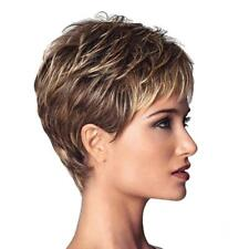 Women Daily Party Wear Wig Short Oblique Fringe Wig Blend Color Heat OK 10""