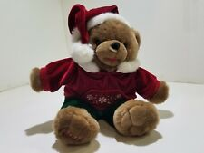 Hand Stitched Polyester Cotton Stuffed Toy Snowflake Christmas Teddy Bear 2007