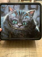 Disney Alice in Wonderland Embossed Cheshire Cat Lunch Box Tin Loungefly GUC