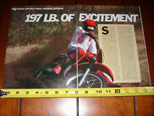 1983 HONDA CR125R - ORIGINAL ARTICLE CR 125