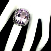 Handmade Oval Ametrine 3.10ct Unheated 925 Sterling Silver Big Ring Size 9.5