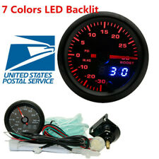 2 Inch 7 Colors LED Digital &Pointer Car Turbo Boost Gauge PSI Meter With Sensor