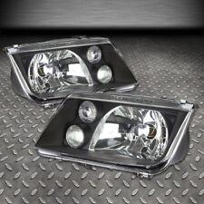 For 99-05 Volkswagen Vw Jetta Black Housing Headlight Replacement Head Lamps (Fits: Volkswagen)