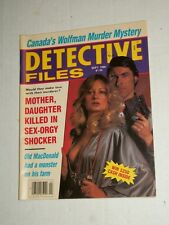Vintage DETECTIVE FILES Magazine Vol 31 #5 January 1986 Bad Girl with Gun! Cans