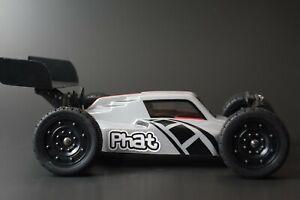 "PHAT BODIES ""ATAK"" buggy body + wing LC Racing EMB-1 WLtoys 144001 Mini 8ight"