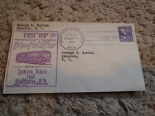 Highway Post Office First Trip Envelope Syracuse, Auburn and Binghamton NY
