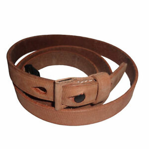 German Mauser K98 WWII Rifle Leather Sling MARKED GWX 1943 Natural n789