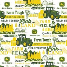 John Deere Farm & Field, The Great Outdoors Cotton Fabric by the Yard