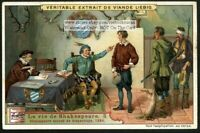 Shakespeare Accused Of Poaching 1584  c1905 Trade Ad Card