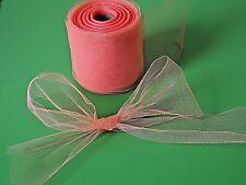 (0,35€/m) 3 m Tüllband lachsfarben 9 cm breit * vielseitig einsetzbare Meterware