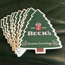 BEER COASTERS  LOT OF 10 BECK'S SEASONS GREETINGS
