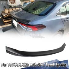 Unpainted For TOYOTA Altis 12th Sedan C Look Rear Trunk Spoiler Wing 2019-2020