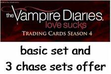 Vampire Diaries Season 4: 72 Card Basic/Base Set & 3 Chase Sets - Mini Master