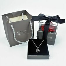 Rose Jewelry Box Unfaded Flower Surprise 100 Languages I Love You Necklace New