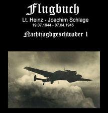 Flugbuch Lt H - J Schlage NJG1 25 pages