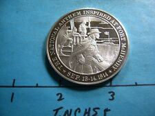 1.3 OZ 1814 NATIONAL ANTHEM MADE BATTLE AT FORT MCHENRY VICTORY SILVER RARE
