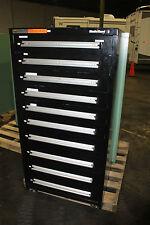 """Stanley Vidmar 10-Drawer Tool Storage Cabinet Shop Equipment Box   30"""" wide"""