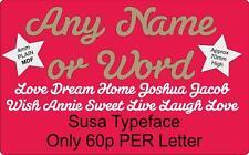 Spedizione gratuita qualsiasi parola o un nome script Word, Porta Firmare & MURO LETTERE. 4mm MDF