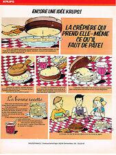 PUBLICITE ADVERTISING 054  1977  KRUPS    LA CREPIERE