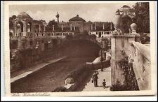 Wien Österreich Postkarte 1927 gelaufen Wientalabschluss Fluss Brücke Personen
