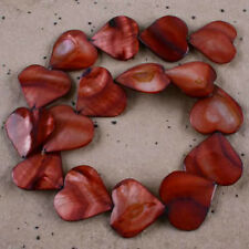 """28x26mm Pretty Mother Of Pearl Shell Heart Beads Fit Fashion Jewelry DIY 16""""L"""
