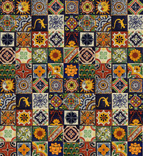 100 Mexican Decorative Tiles 4x4 Handmade Folk Art Mixed, 2-5 Days Delivery