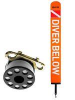 Mares Standardboje mit Reel 15 Meter Leinenrolle Leine + Messingkarabiner + Boje