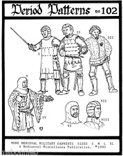 Medieval Military Garments S-XL Period Patterns Sewing Pattern # 102 SCA / LARP