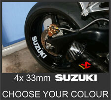 4x Suzuki GSX-R 750 600 1000 GSF Bandit Wheel Rim Sticker Decal Motorcycle Vinyl