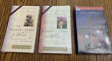 3 AUDIO CASSETTE BOOKS Prayer of Jabez, Secrets of the Vine, God's Grace NEW