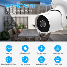 Wireless Security Camera 1080P Outdoor WiFi Weatherproof Motion Sound Detection