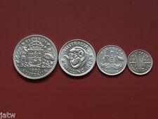 Australia. 1960 Melbourne - 4 Piece Silver PROOF Set.  3d, 6d, 1/- & 2/-