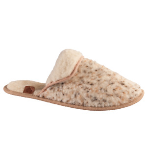 Women Natural 100% Sheepskin Slippers Mule With Warm Wool US Size 7